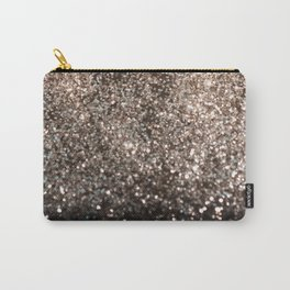 Sparkling GOLD BLACK Lady Glitter #1 #decor #art #society6 Carry-All Pouch