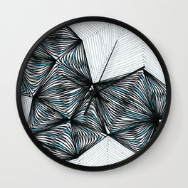 Geometric tringular net Wall Clock