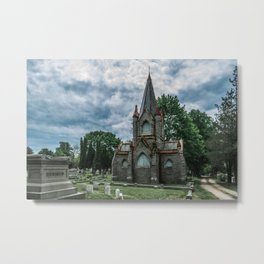Billings Mausoleum Stonington Cemetery Connecticut Graveyard Metal Print