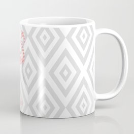 Flamingo - abstract geometric pattern - gray and white. Coffee Mug