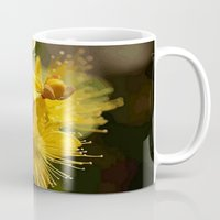 marc johns Mugs featuring Turkish St Johns Wort Wild Flower Vector Image by taiche