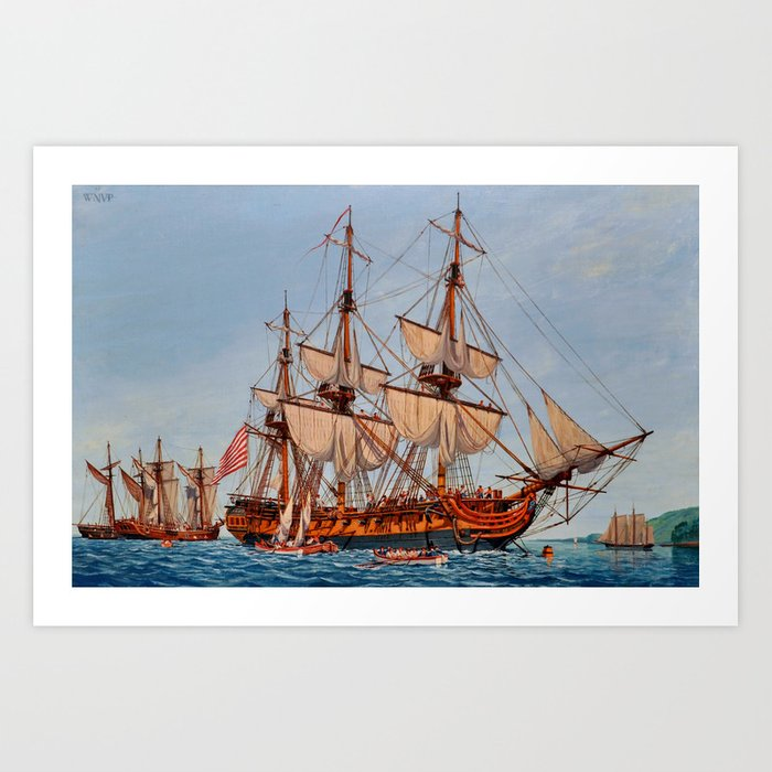 Revolutionary Painting of the Frigate Confederacy Art Print
