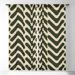 Green Arrow Pattern Blackout Curtain