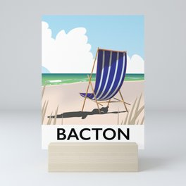 Bacton Norfolk beach poster Mini Art Print