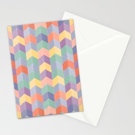 Colorful geometric blocks Stationery Cards