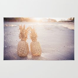 Golden Pineapples Rug