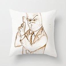 Hotdog Detective  Throw Pillow