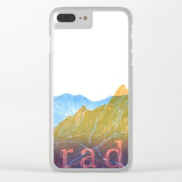 Colorado Mountain Ranges_Boulder Flat Irons + Continental Divide Clear iPhone Case