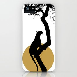 Art print: The leopard on the tree art iPhone Case