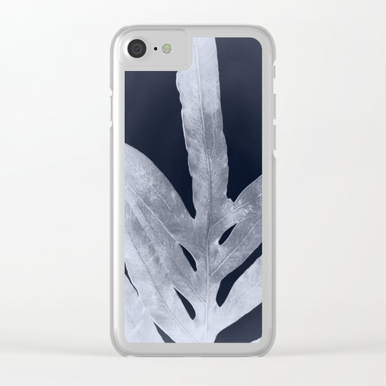 Green Fern Silver Black Clear iPhone Case