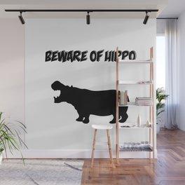 Beware of Hippo Wall Mural