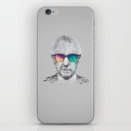 Albert Hofmann - Psychedelic Polygon Low Poly Portrait iPhone Skin
