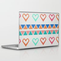 knit Laptop & iPad Skins featuring Heart Knit  by minniemorrisart