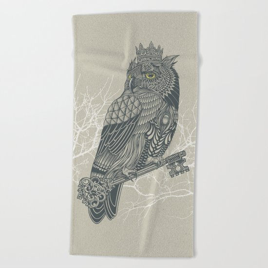 Owl King Beach Towel