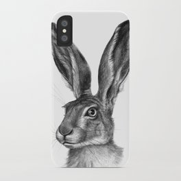 Cute Hare portrait G126 iPhone Case