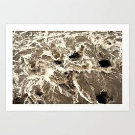 Water Drifting Art Print