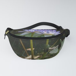 Purple Lilypad Flowers are Blooming in Spring Fanny Pack