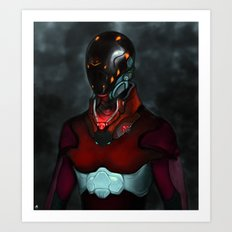 Mighty Morphin' re-invented Art Print
