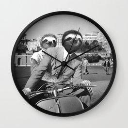 Sloth in Roman Holiday Wall Clock