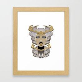 GINGER Xmas Yummy Framed Art Print