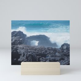 Atlantic Waves at El Golfo, Lanzarote Mini Art Print
