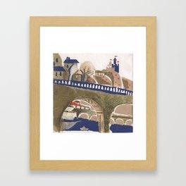 Medieval town - 3 Framed Art Print