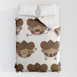 Chestnut Girl Mood Duvet Cover