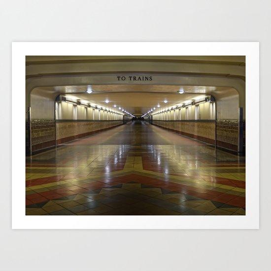 To Trains Art Print