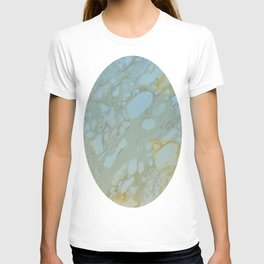 Marble in Blues and Golds, Italian  T-shirt