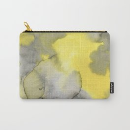 Hand painted gray yellow abstract watercolor pattern Carry-All Pouch