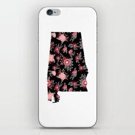 Alabama university of alabama crimson tide floral college football gifts iPhone Skin