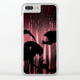 Forest Aliens Clear iPhone Case