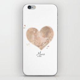 Mars in love iPhone Skin