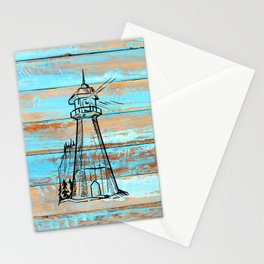 East Coast Vintage Lighthouse Barnboard Stationery Cards