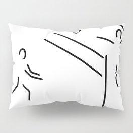 volleyball clench wet Pillow Sham