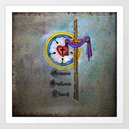 Lutheran Christian Rose Art Print