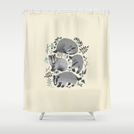 Badgers of the forest Shower Curtain