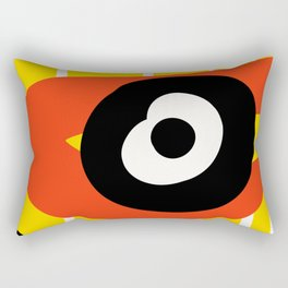 Big Red Eye African Art Yellow Rectangular Pillow
