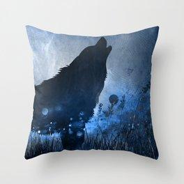 Twilight Wolf Throw Pillow