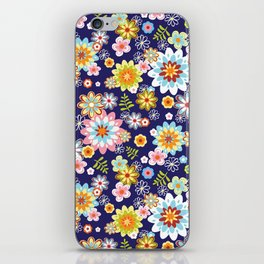 Floral abstract pattern vector illustration background. Tropical summer bouquet. iPhone Skin