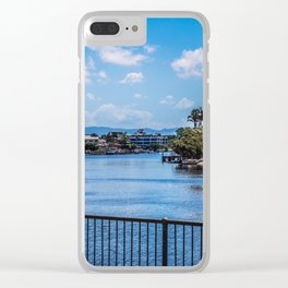 Houses On The Nerang River Clear iPhone Case