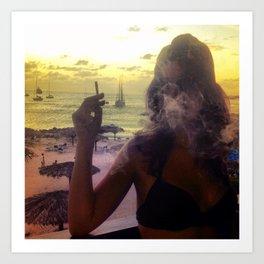 Caribbean Fog Art Print
