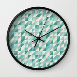 Hashed Blue Wall Clock