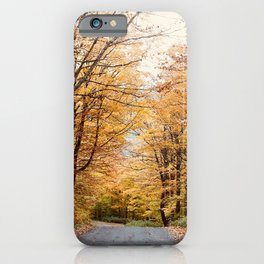 Amber Leaves in Vermont - 35mm film iPhone Case