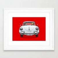 porsche Framed Art Prints featuring Porsche by Michael Constantine