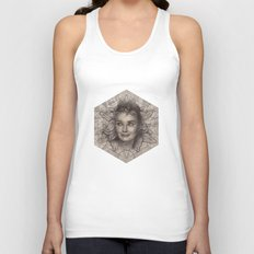 Audrey Hepburn dot work portrait Unisex Tank Top