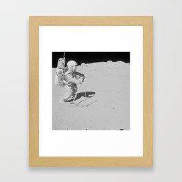 Apollo 16 - Collecting Lunar Samples Framed Art Print
