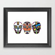 3 Skulls Framed Art Print