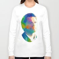 castiel Long Sleeve T-shirts featuring Castiel  by mishainmydreams