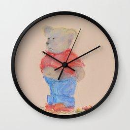 Little sad teddy bear  Wall Clock